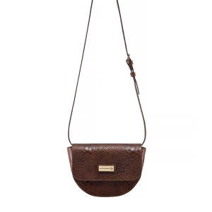 TOREBKA-NERKA RIMINI CROCO LARGE BROWN