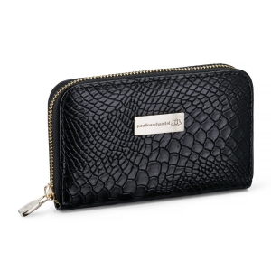 WALLET MEDIUM CROCO BLACK